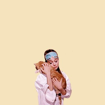 Holly Golightly and Cat {Breakfast at Tiffanys}