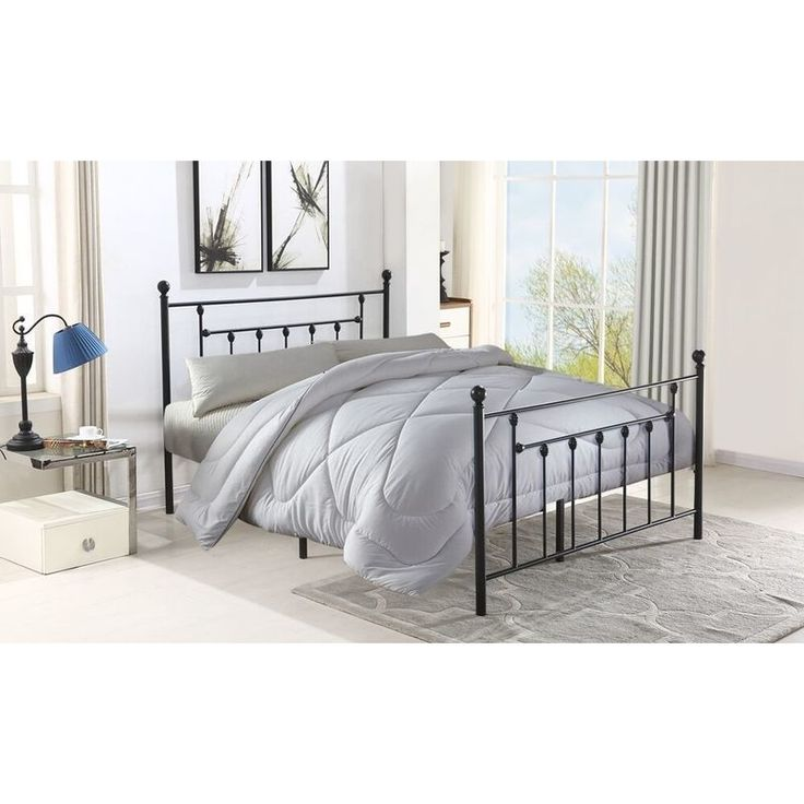 Classic Queen Size Slatted Metal Bed Frame in Black shopping, Buy Queen Bed Frame online at MyDeal for best deals, coupons, bargains, sales