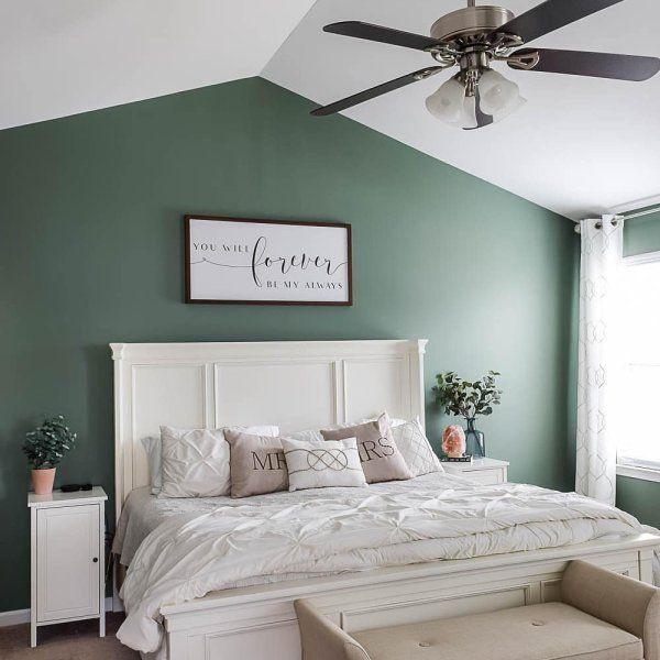 Privilege Green Sw 6193 Sherwin Williams Green Bedroom Walls Green Master Bedroom Bedroom Paint Colors Master
