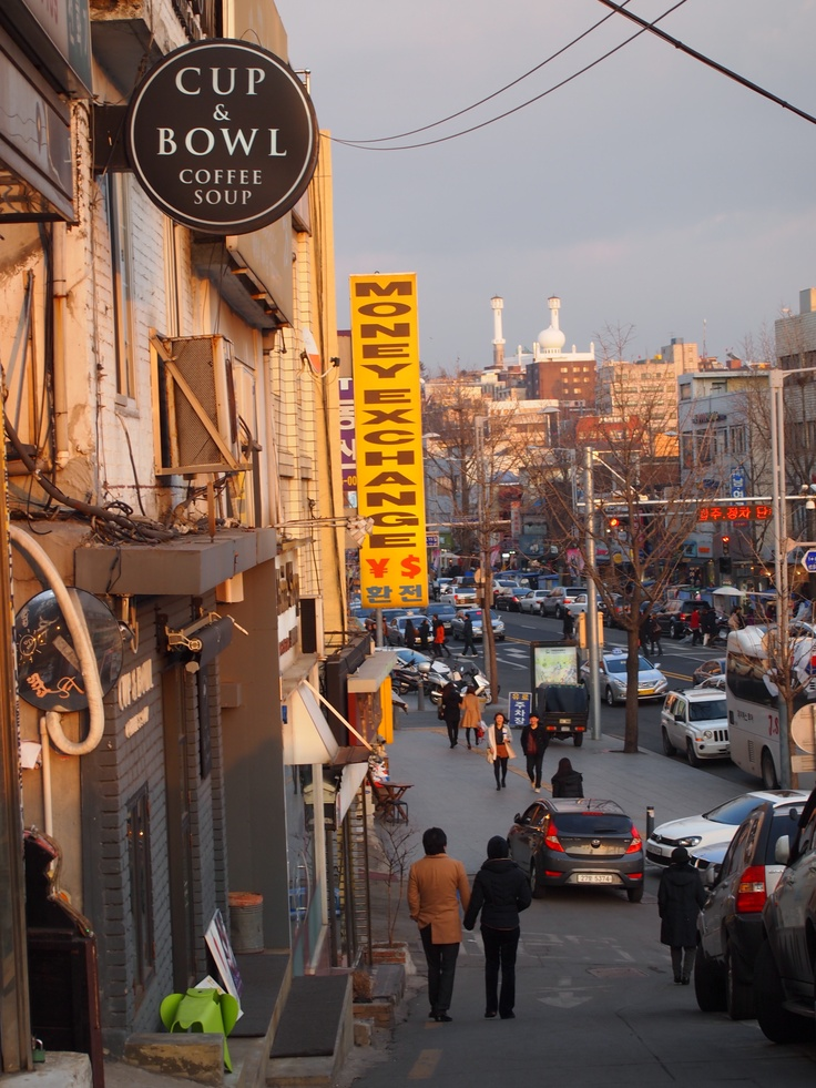 Multicultural Itaewon - Itaewon is one of the few places in Seoul where visitors can be surrounded by people of many different cultures and backgrounds.  From South American restaurants to Turkish bakeries to a mosque, you can find something from just about every corner of the globe in this fun neighborhood.  To get there, take the Seoul subway to Itaewon Station (Line 6, all exits).