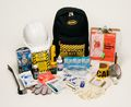 School Emergency Survival Backpack Kit from Sunset Survival and First Aid, Earthquake Kits, Classroom Safety, Family Emergency Kits, Workplace Survival and Safety Kits
