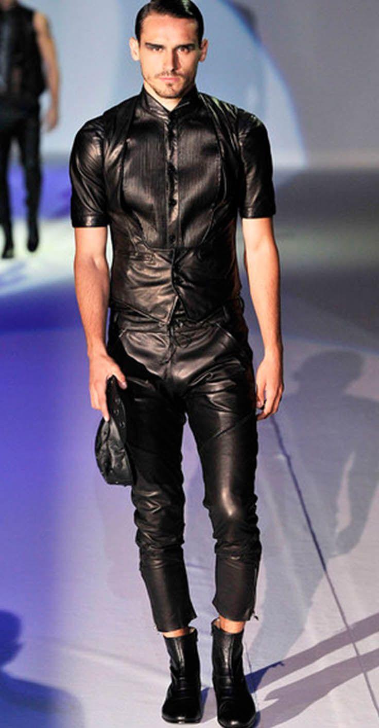 emporio armani men 39 s leather wear collection kivoja vaatteita pinterest h bsche m nner. Black Bedroom Furniture Sets. Home Design Ideas