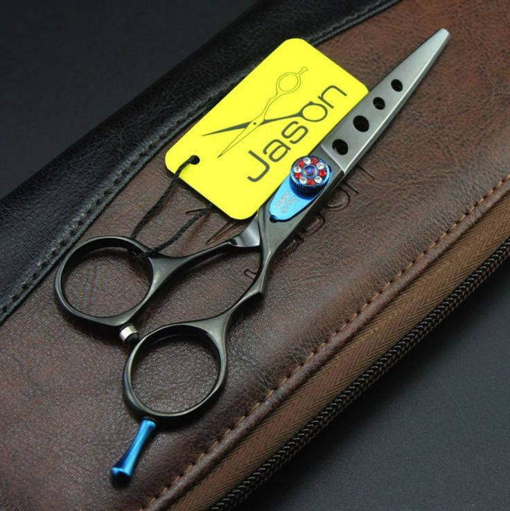27.22$  Buy here - http://alie8w.shopchina.info/1/go.php?t=32668019985 - High Quality 6.0Inch JP440C Cutting Scissors,Black Hair Shears with Hole on Blade for Hairdressers,Beauty Hair Tool 1pcs LZS0586  #magazineonlinewebsite