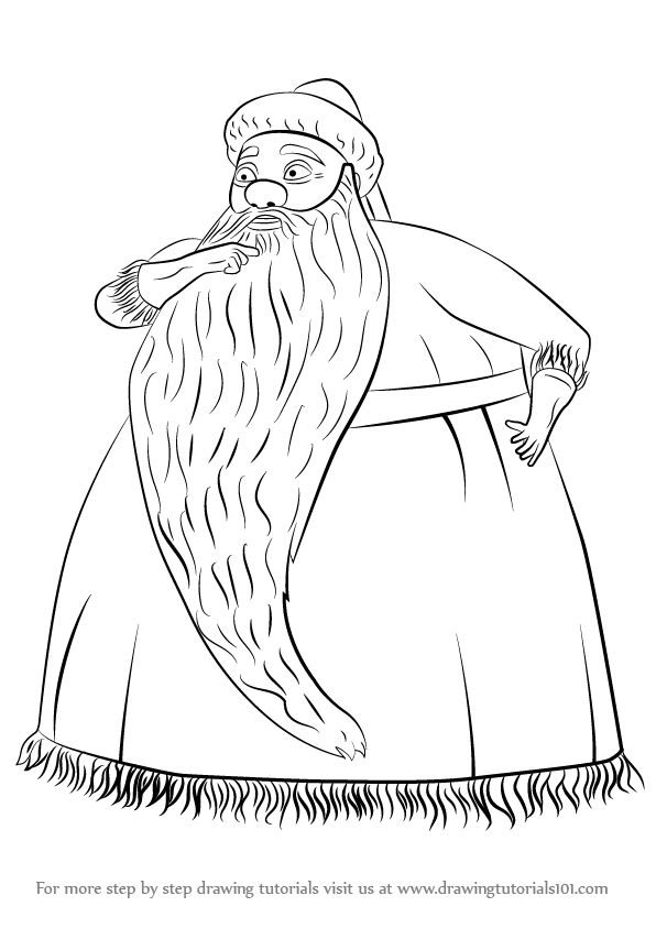 Learn how to draw santa claus from the nightmare before for Christmas town coloring pages