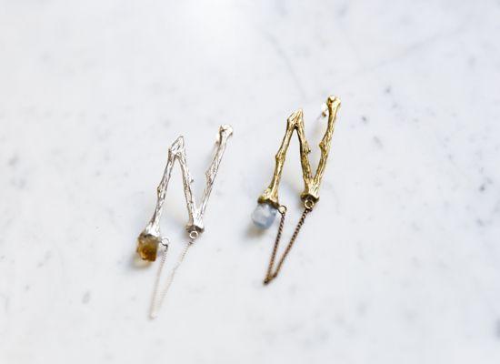 BONE ZIGZAG EARRING SILVER - LEMON JEWELLERY - EARRINGS - Shopping    The Dark Horse Jewellery Australia