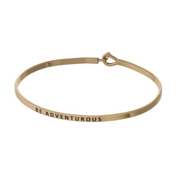 Wholesale gold brass bangle bracelet stamped Be ...