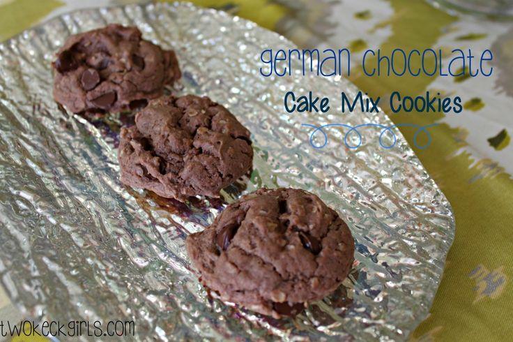 Cake Mix Cookies German Chocolate