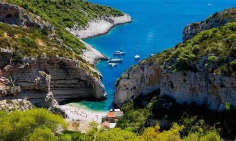 Spectacular seclusion … Stiniva Cove, Vis, Croatia. Photograph: Alamy