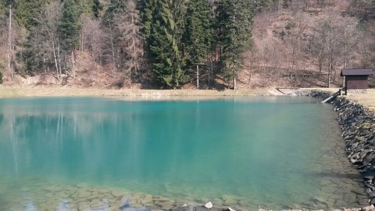 Tajch Veľká  Vodárenská in Banská Štiavnica. Beautiful turquoise and clear water. Go there in March if you want to see turquoise water. It looks great in March, I havent seen it so clear in other months.