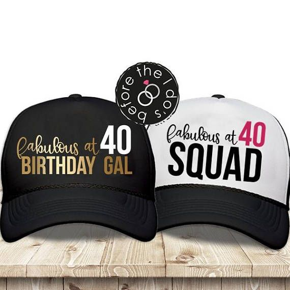 Adult 40th Birthday Trucker Hat Party Beforetheidos Squad Forty Helloforty 40thbirthday