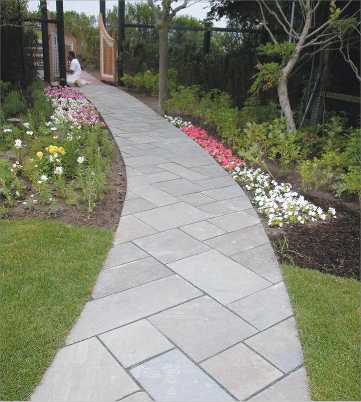 Bluestone Walkways With Cement Steps