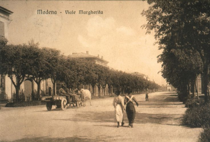 Modena, Viale Margherita, oggi Viale Modena, viale Margherita, oggi viale Caduti in Guerra, 1890-1910, Anonimo. Fondo Panini, Fondazione Fotografia Modena