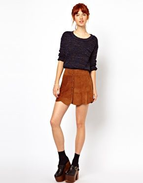 Everything comes back around - Gianni suede skirt