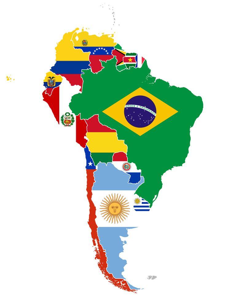 vlaggen Zuid Amerika