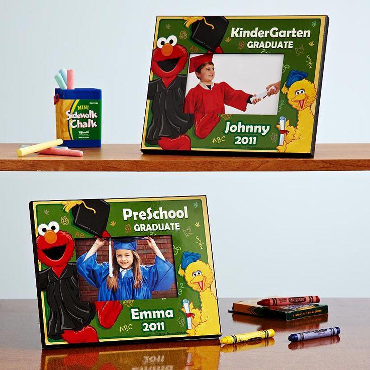 Elmo preschool kindergarten graduation frame