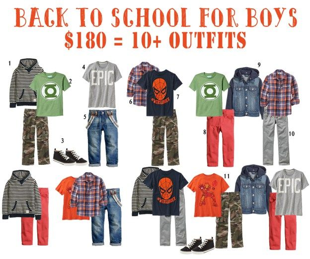 Back to School Wardrobe for Boys On a Budget | Five Marigolds