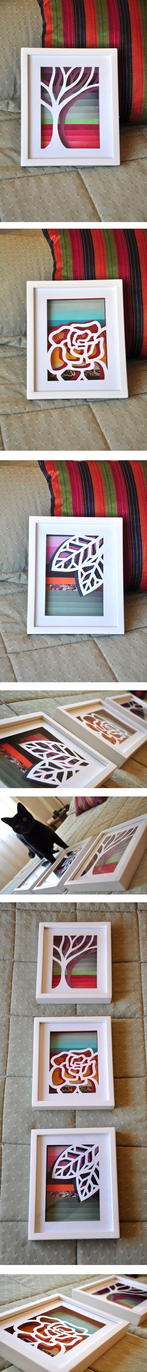 DIY - mis cuadros con revistas recicladas