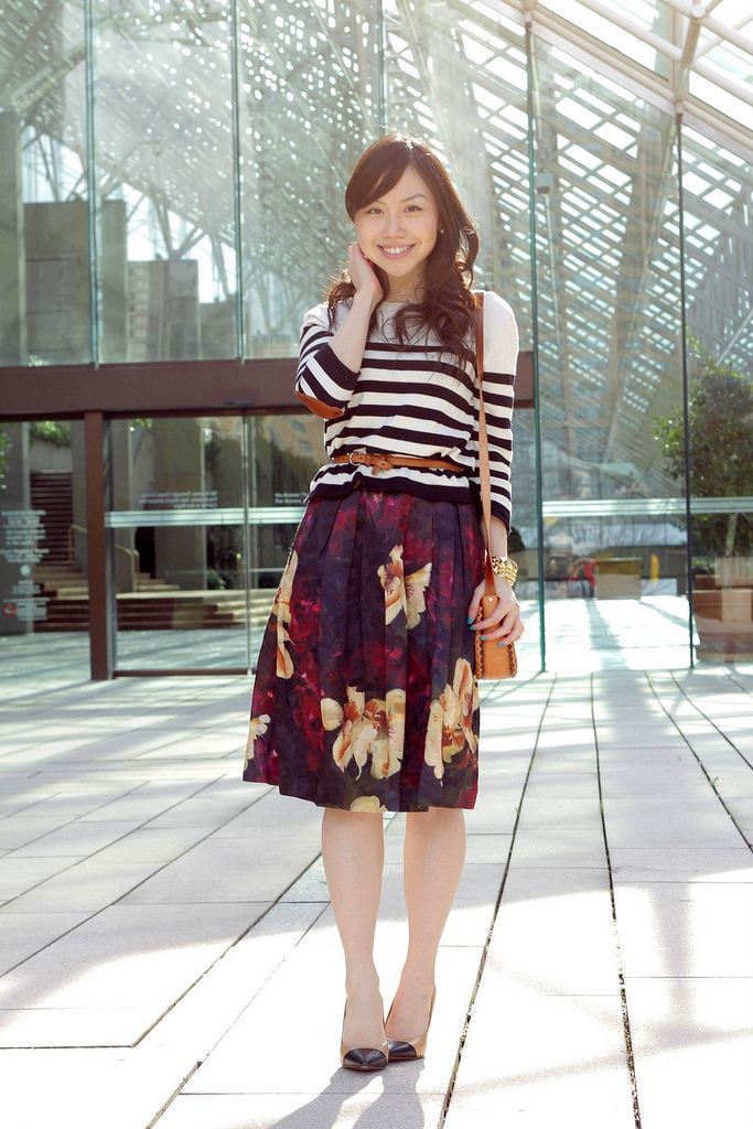 romantic floral skirt: Pattern Mixing, Skirts Ideas, Patterns Mixed