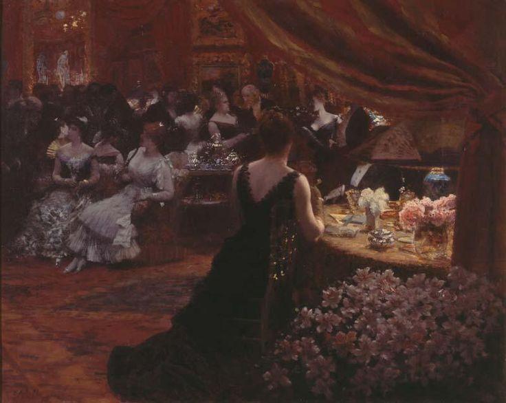 """Giuseppe #DE_NITTIS, """"Il salotto della principessa Matilde"""" 1883"""