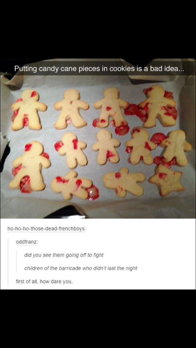 First of all, how dare you, and second of all, HOW DARE YOU? << cookies of the barricade that didn't last the night...