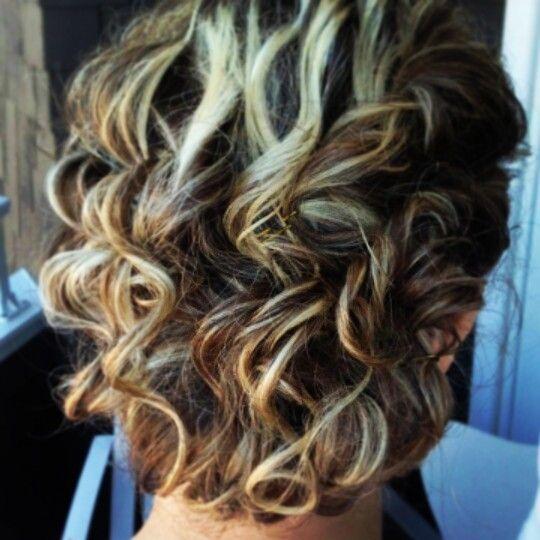 #curly #hair #updo #formal #hair #wedding #bridesmaid
