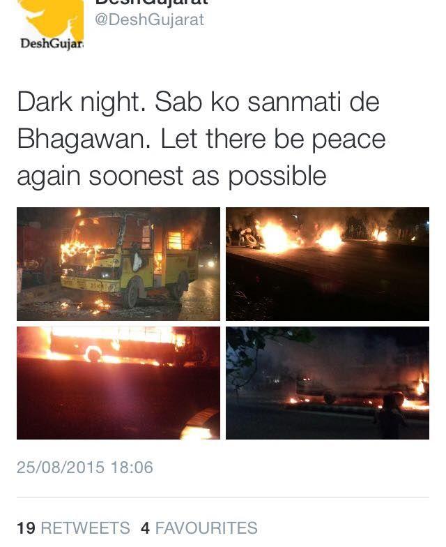 What terrorist couldn't do in GUJARAT, .#hardikpatel did it.  u support him, UR anti National  congress+AAP= anarchy