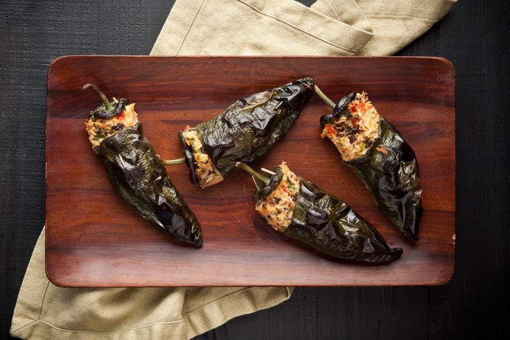 Stuffed Poblano Peppers with Black Beans and Cheese ...