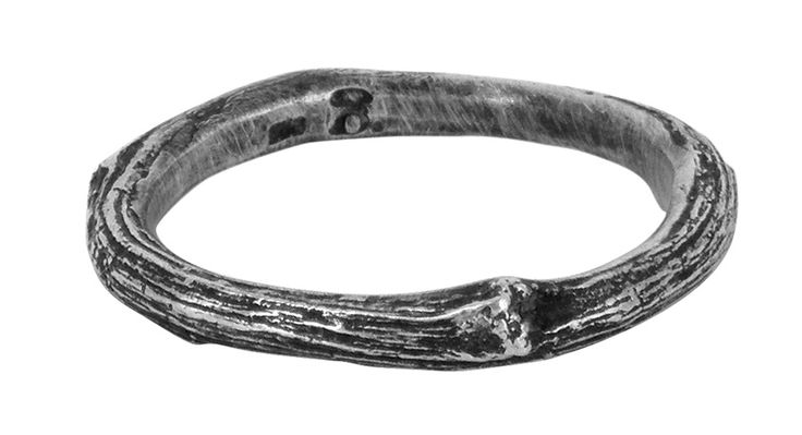 Stick with me twig wedding ring in sterling silver