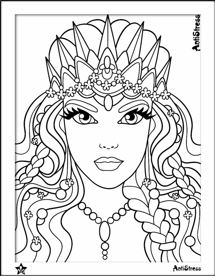 beautiful girls printible coloring pages - photo#4