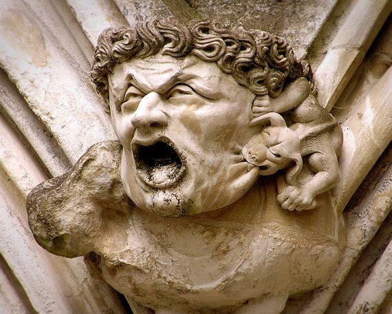 Gargoyle Photo. Sculpture Photo. Salisbury by Lookinforlight, $24.00