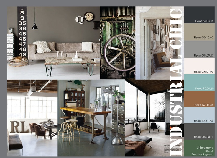 moodboard industrial interior design color schemes on commercial office paint colors id=49491