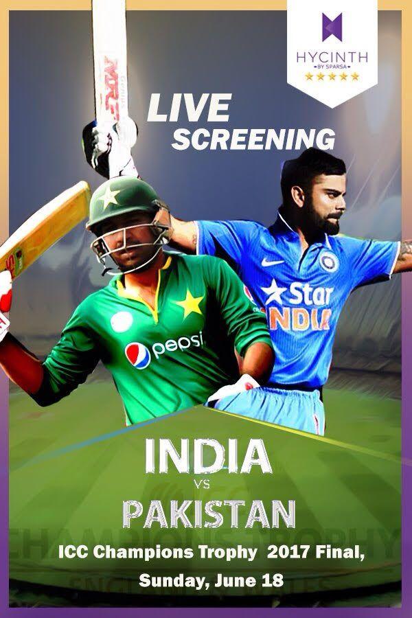 Keep calm & wait for India vs Pakistan Cricket match. Live Screening @ Hycinth #ICC #IndvsPak #Cricket #excitement #war #watch