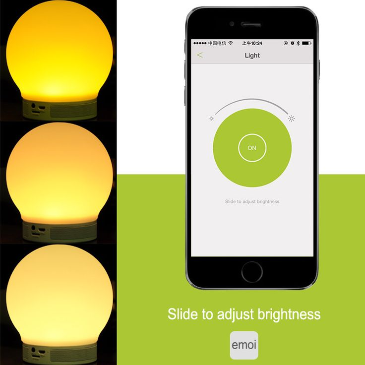 Emoi Smart Lamp - Built-in Speaker, Touch Control, Micro SD Card Slot, Bluetooth 4.0, Hands Free, App Contol