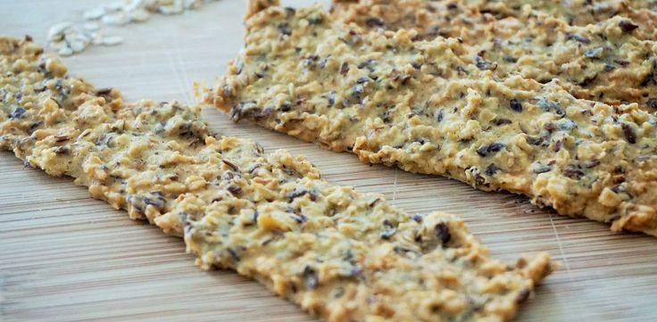 Crackers van kikkererwtenmeel en havermout — Slim & Pure | Voedingscoaching