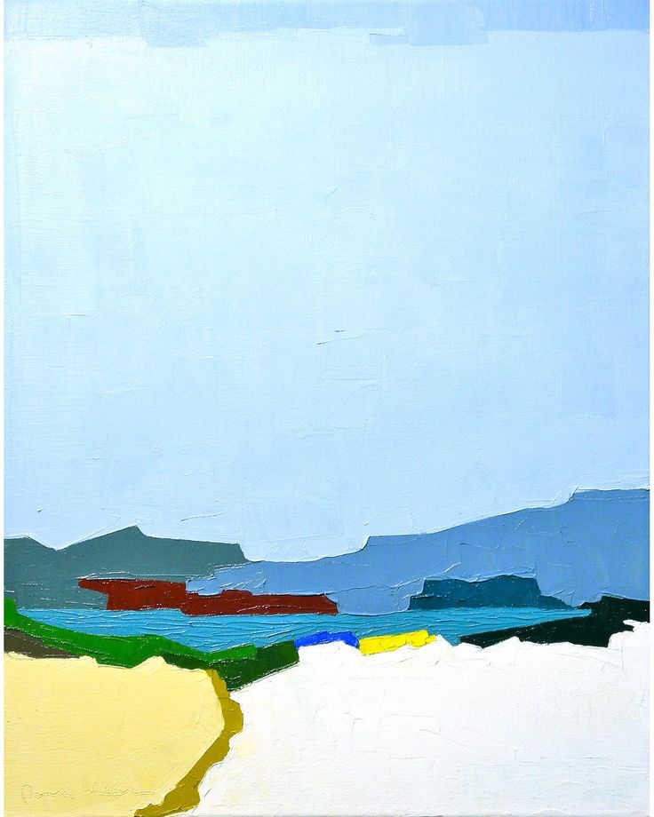 """""""Inlet"""" by Donna Walker, $900, 16"""" x 20"""" available at #serenaandlily"""