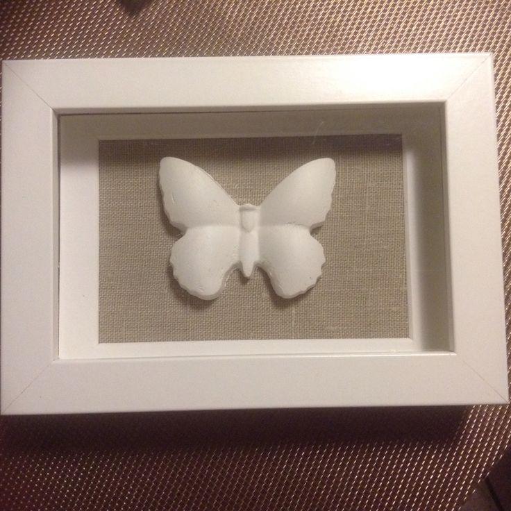quadretto con farfalla in gesso