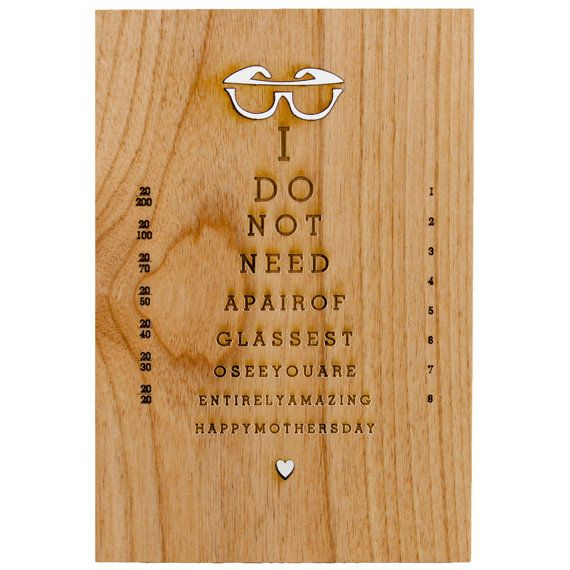 For a nearsighted mom: | 25 Awesome Cards To Make Any MomHappy