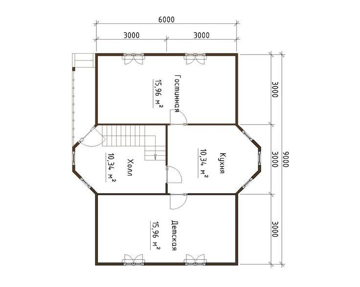 Готовый проект каркасно-щитового дома 8X9 Строительная компания «ДОМ МЕЧТЫ»