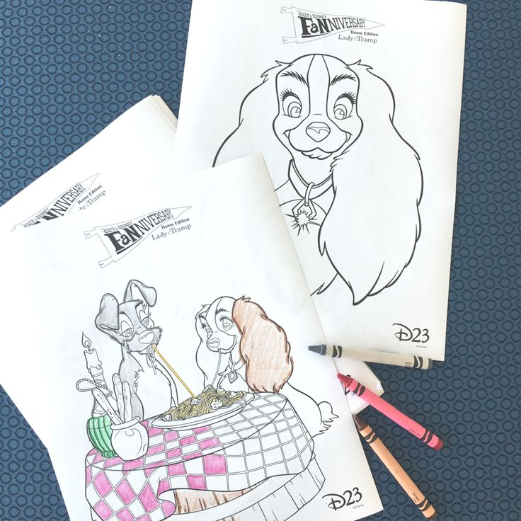 lady and the tramp coloring pages