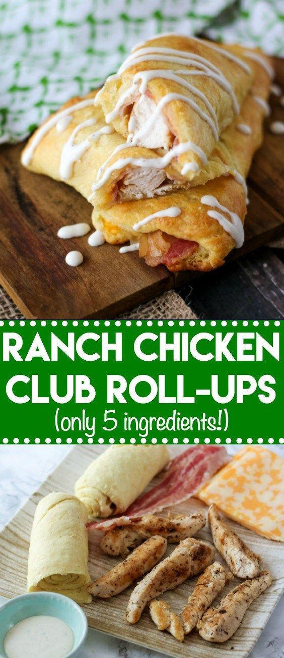 Ranch Chicken Club Roll-Ups are my most popular recipe. Cheese, ranch, bacon and chicken all wrapped up in a buttery crescent makes an easy dinner! #crescentrolls #crescent #chickendinner #chickenrecipes #easyrecipes #dinnerrecipes #ranch #club #bacon