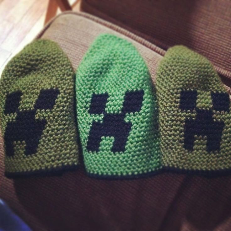 Please Grandma, Genevieve and Erik would love to have these. Minecraft Beanie   #minecraft #minecraftcreeper