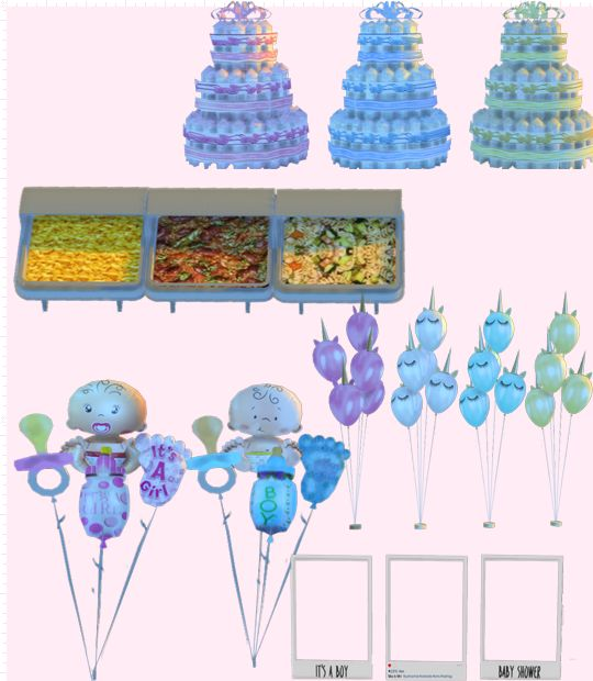 Xmiramira's CC Finds — thedunlaps: Baby Shower Pack I made