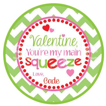 new printable valentine you 39 re my main squeeze favor tags valentine 39 s day ideas valentines. Black Bedroom Furniture Sets. Home Design Ideas