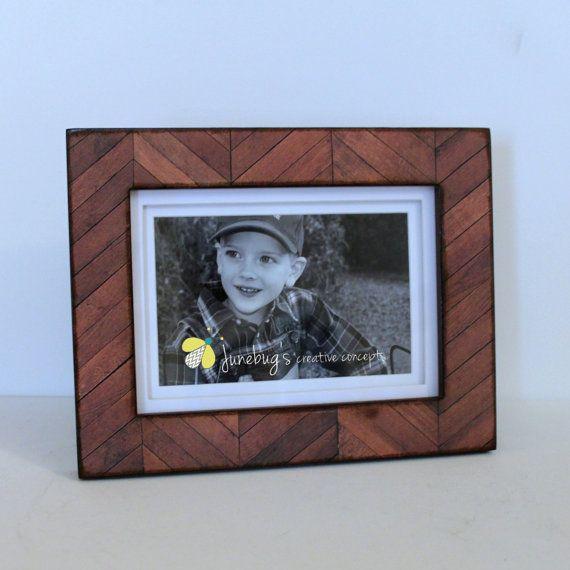 Hey, I found this really awesome Etsy listing at https://www.etsy.com/listing/171072131/chevron-dark-wood-photo-frame-4x6-5x7