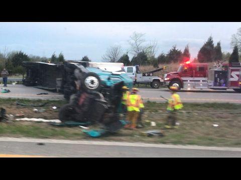 Semi Truck Rollover / Multi Car Crash