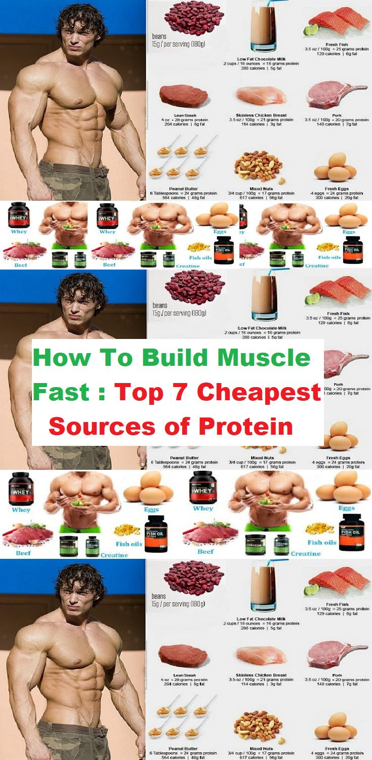 How To Build Muscle Fast, Top 7 Cheapest Sources of Protein