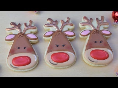 RUDOLF THE RED NOSE REINDEER COOKIES, HANIELA'S - YouTube