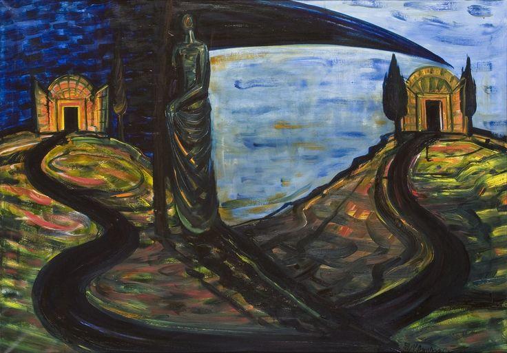 El Kazovszkij: Vándor párka II. / WanderingFate II - 1995 - 80x110 cm - olaj, vászon / oil on canvas