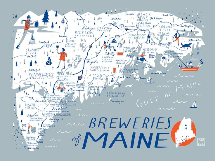 Image result for map of craft breweries in maine