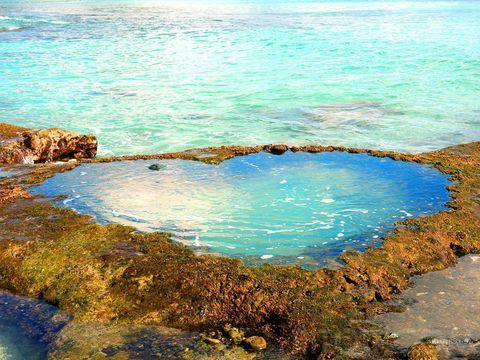 ハート岩というと、沖縄の逆三角形の岩をよく言いますが、奄美大島には灰色のハート岩ではなく、青く輝くハート岩があるんです。その色合い、まさにアクアマリン。潮が大きく引いたときだけ現れる、神秘のハート岩です。クリスマスやバレンタイン、結婚記念日やプロポーズに奄美大島はいかがでしょう?アクアマリン色のハート岩で、愛をさけぼう!